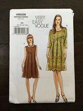 Vogue Dress V8509 Princess Pleats Mid-Knee 8-14 Very Easy Uncut