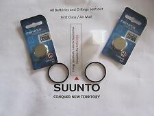 2 Renata battery & O-ring set Suunto Vyper, Vytec, Gekko,Zoop & HelO2 + grease