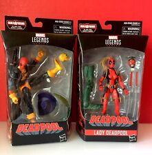 Hasbro Marvel Legends Deadpool // Lady Deadpool - LOT of 2 New/ Sealed Figures