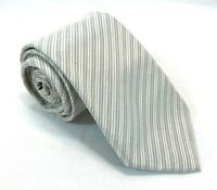 "Kenneth Cole New York Mens Tie Necktie 100% Silk 58"" 2 3/4"" Skinny Striped Gray"