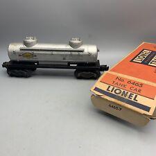 Vintage Lionel No. 6465 Sunoco 2-Dome Tank Car w Original Box