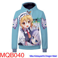 Miss Kobayashi's Dragon Maid Hoodie Coat Jacket Sweater Sweatshirt Cosplay Costu