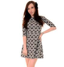 3/4 Sleeve Skater Short/Mini Casual Dresses for Women