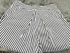 COUNTRY ROAD WOMENS SHORTS STRIPED BLUE WHITE SAILOR POCKETS COTTON ELAST SZ 8