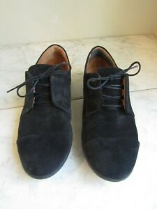 Samuel Hubbard Freedom Now Black Suede Lace Up Oxford Women's Shoes 7.5 EU 38