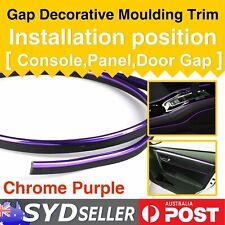 Chrome Purple Gap Mouldings Trim Gape Strip Car SUV Interior Dash Accessory 8M