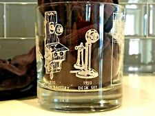 1900's Old Telephone Whiskey Rock Bar Glass Tumblers