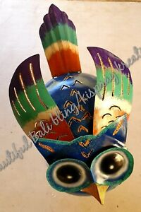 Bali Mosquito Mozzie Coil Holder Owl Handmade balinese Metal Art &gift FREEPOST