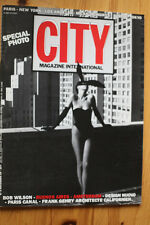 Magazine International CITY 5 Special Photo Bob Wilson Frank Gehry Design Nuovo