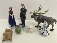 Frozen Figures Set of 7 Birthday Cake Toppers Gift Plastic Toy Doll Decoration