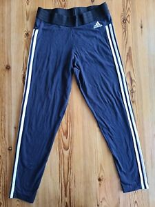 Adidas Ladies Joggers Size 16-18 Elasticated Waist Very Good Condition Navy