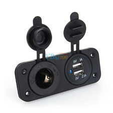 Dual USB Car Auto Cigar Lighter Socket Splitter 12V Charger Power Adapter Outlet