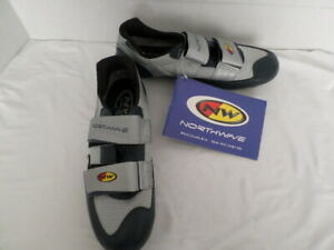 Northwave Italy Sprint 2001 Road Cycling Shoes Blue & Gray EU 43 US 10.5