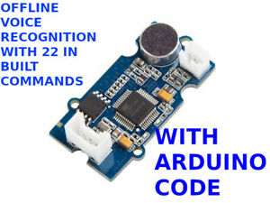 Offline Voice Recognition arduino with 22 in built commands + Software Code
