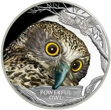 Tuvalu - 1 Dollar 2018 - Eule - Endangered & Extinct (8.) - 1 Oz Silber PP Farbe