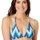 BNWT Womens Bikini Top Size 6 Blue Chevron Triangle Small Swimwear Target