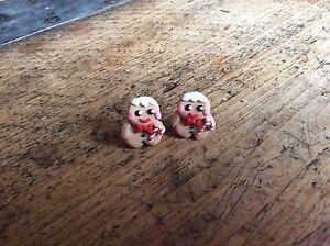 Gingerbread Man Men Stud Earrings Christmas Cute Handmade Gift Party Candy