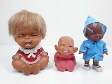Vintage Japan Moody Doll Money Bank Smile Bundle Poopie Sad Cry Hong Kong