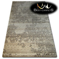 "SOFT ACRYLIC RUGS ""FLORYA"" Very Thick And Densely Woven HIGH QUALITY brown"