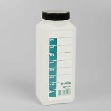 KAISER 4192 1 LITRE PHOTOGRAPHIC CHEMICAL STORAGE BOTTLE TRANSLUCENT WHITE 1LTR