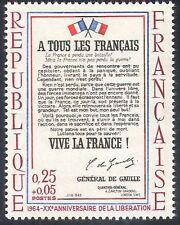 France 1964 WWII/War/Military/de Gaulle 1v (n30897)