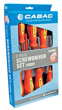 8 Piece Electrician Insulated Screwdriver Set 1000Volt Protection VDE Cabac NEW