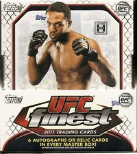 Topps UFC Finest & Knockout & Main Event & Series 4 Hobby Boxes  4 BOX LOT