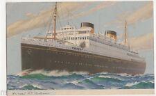 Cunard M.V. Britannic, Shipping Art Postcard, B521
