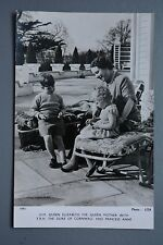 R&L Postcard: HM Queen Mother with Princess Anne & Prince Charles as Children