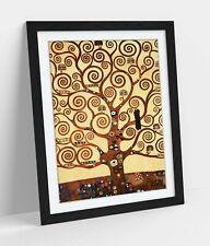 GUSTAV KLIMT TREE OF LIFE STOCLET -ART FRAMED POSTER PICTURE PRINT ARTWORK- GOLD