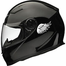 2Pc ANGEL WING Reflective Motor Helmet Stickers Decals mirrored pair Best Gift-