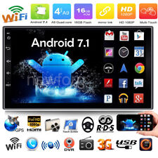"""7"""" Touch Screen Bluetooth WIFI Android 7.1 Car Stereo MP5 FM BT Radio GPS Navi"""