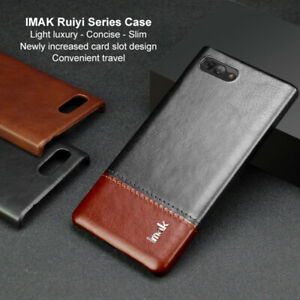 For BlackBerry Key2, Imak Luxury Shockproof Matte Business Leather Case Cover
