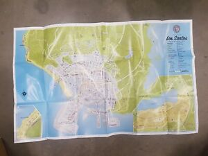 GTA Grand Theft Auto Five V 5 Los Santos Map only original double sided NO GAME