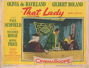 Olivia de Havilland, G. Roland • THAT LADY Card #8 • 1955 • VG • 20th Century