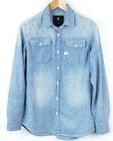 G-Star Raw Uomo Landoh Casual Camicia di Jeans TAGLIA S Nz139