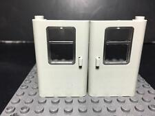 LEGO NEW Left & Right Old Light Gray Train Doors with Glass Panel #4181/4182