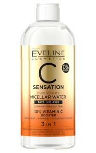 Eveline C Sensation Micellar face water 3in1, 400ml