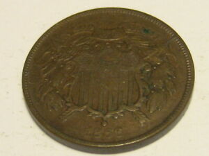 1866 Two Cent Piece XF