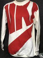 Vtg 90s Nike Graphic Sweatshirt Rare Men Size S NWT Error Tag Nike Swoosh
