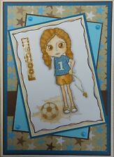 Unmounted Rubber Stamp Football Girl