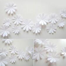 12 Pièces 3D Stickers Fleur Gerbera Blanc Pvc Design Pétales Décoration Maison