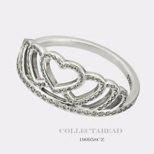 Authentic Pandora Sterling Silver Hearts Tiara CZ Ring Size 58 (8) 190958CZ