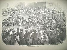LA BOURSE DE PARIS TURQUIE UNE RUE DE CONSTANTINOPLE MOZART BOMBAY GRAVURES 1858