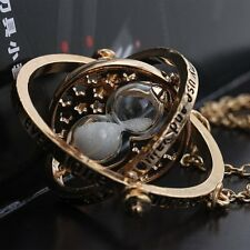 New Harry Potter Hermione Granger Rotating Time Turner Necklace Hourglass Chain