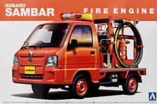 Subaru Sambar Fire Engine Truck Feuerwehr 1:24 Model Kit Bausatz Aoshima 014172