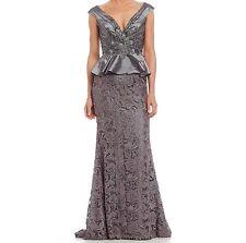 $798 NWT Mac Duggal Beaded Peplum Gown