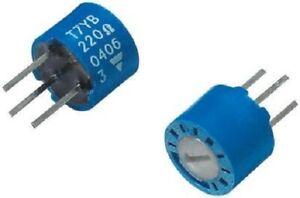 Vishay T7YB TOP ADJUST TRIMMER POTENTIOMETERS 7x4mm 50Pcs 100kΩ 0.5W Single Turn