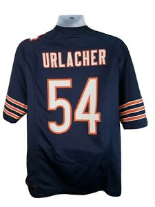Official Nike NFL Onfield Chicago Bears Brian Urlacher #54 Blue Jersey Size M