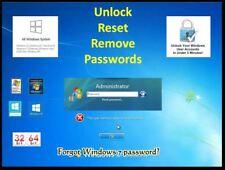 2018 Windows Password RESET / Remove CD - Windows, 10. 8.1, 7, Unlock, Recovery